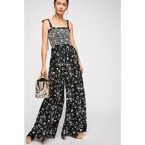 FREE PEOPLE COLOR MY WORLD WIDE LEG JUMPSUIT